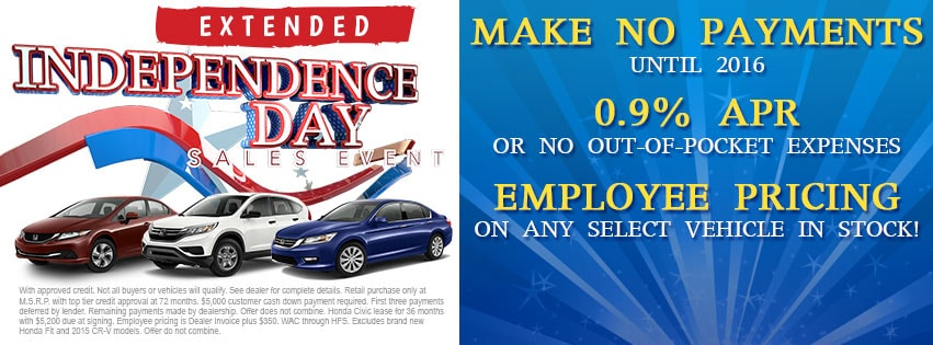 Independence Day Sales Event | Honda Dealer Serving Cleveland OH