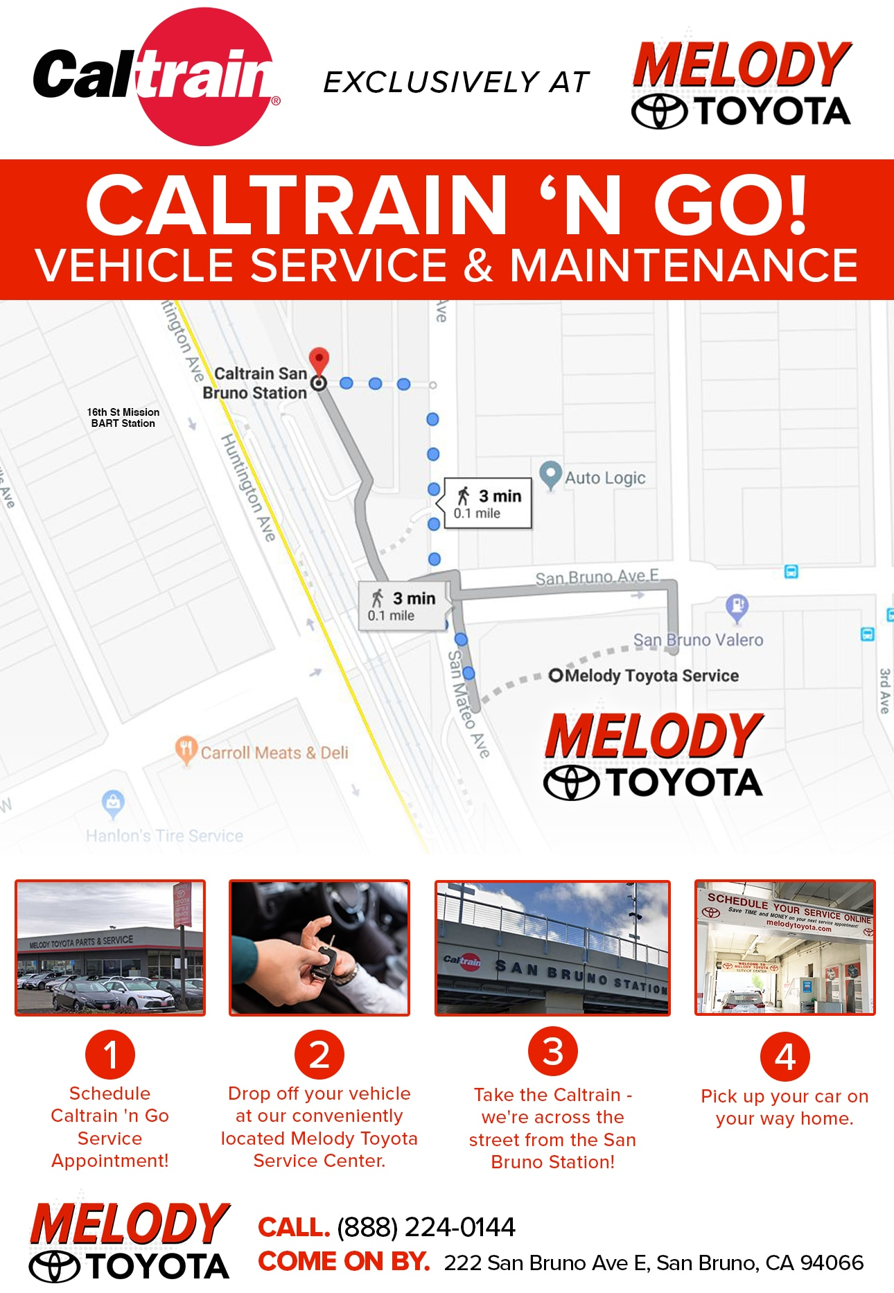 Caltrain Express Service Melody Toyota
