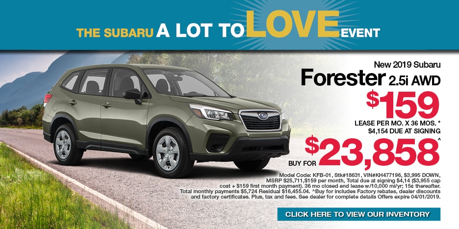 New 2019 Subaru FORESTER 2.5i AWD