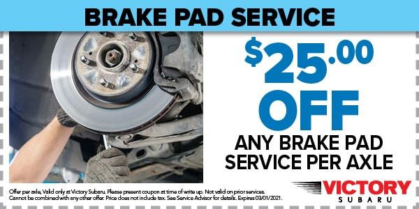 BRAKE PAD SERVICE