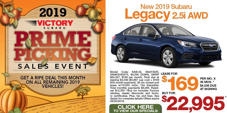 New 2019 Subaru Legacy 2.5i AWD