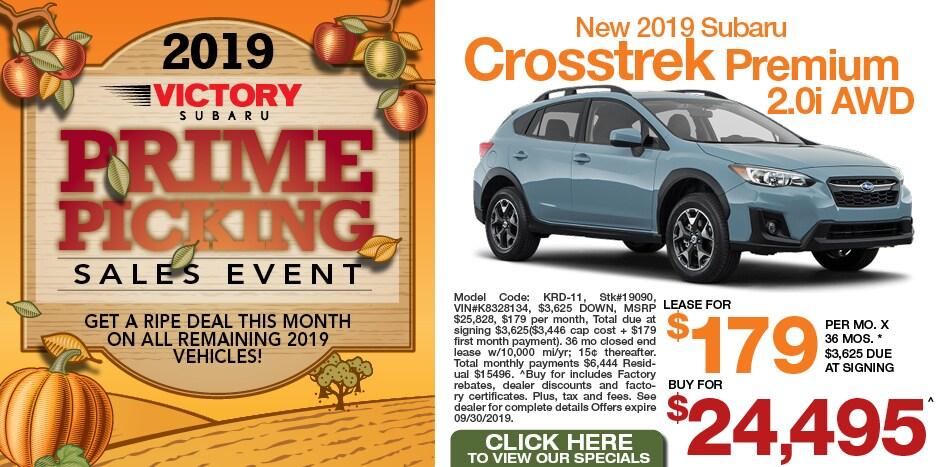 New 2019 Subaru Crosstrek Premium 2.0i AWD