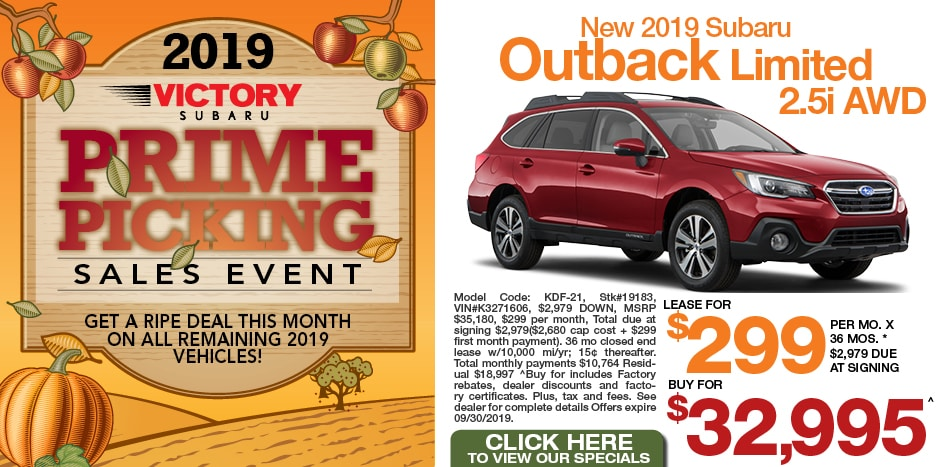 New 2019 Subaru Outback Limited 2.5i AWD