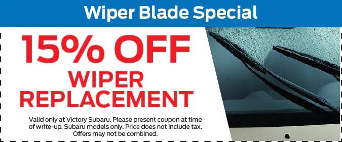 15% Off Wiper Blade Special