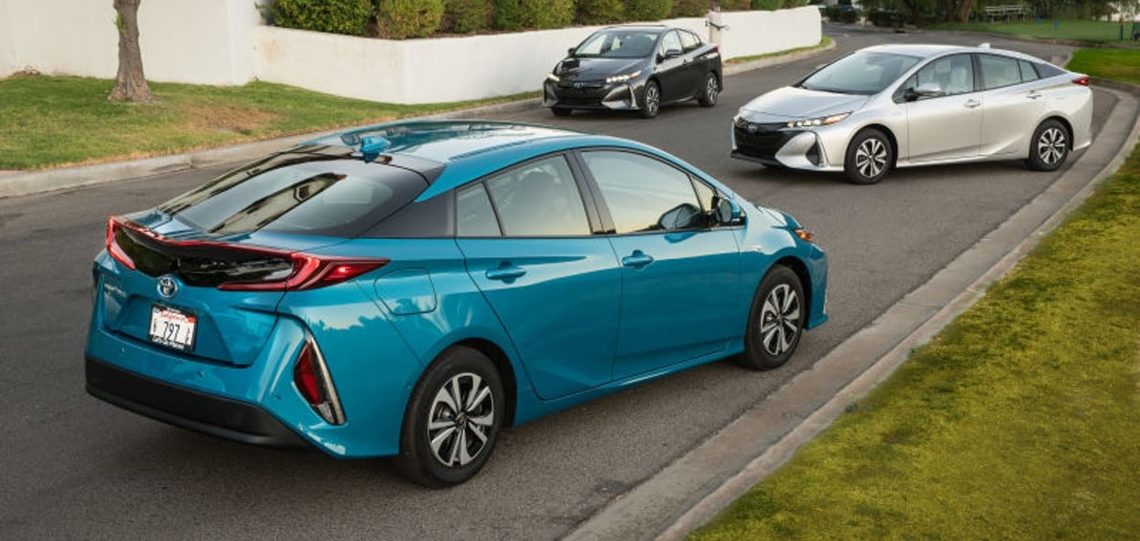 2020 Blue Toyota Prius Victory Toyota