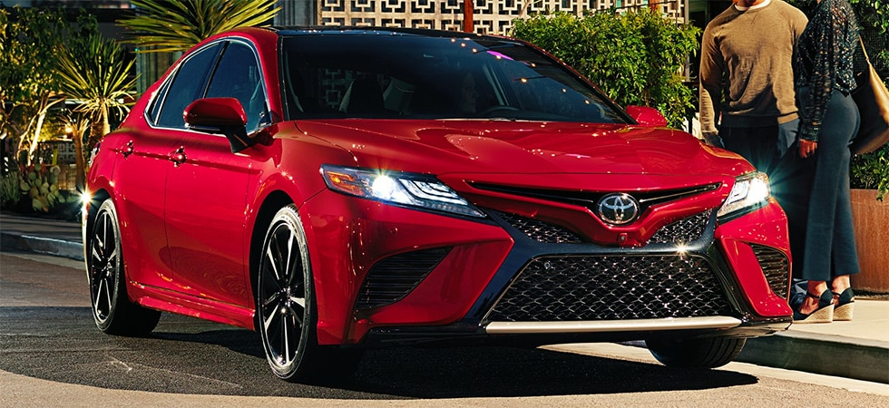 2019 Toyota Carmy Red with Black rims