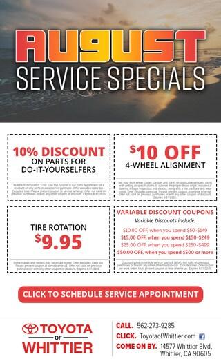 Service Specials near Los Angeles