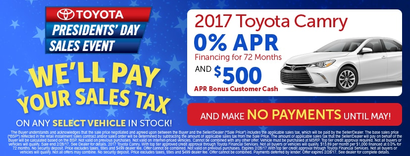 Presidents Day Car Sales 2017 >> Presidents Day Sales Event Toyota Dealer Serving Ann Arbor Mi