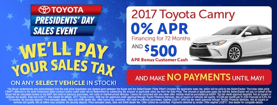 Presidents Day Car Sales 2017 >> Presidents Day Sales Event Toyota Dealer Serving Ann