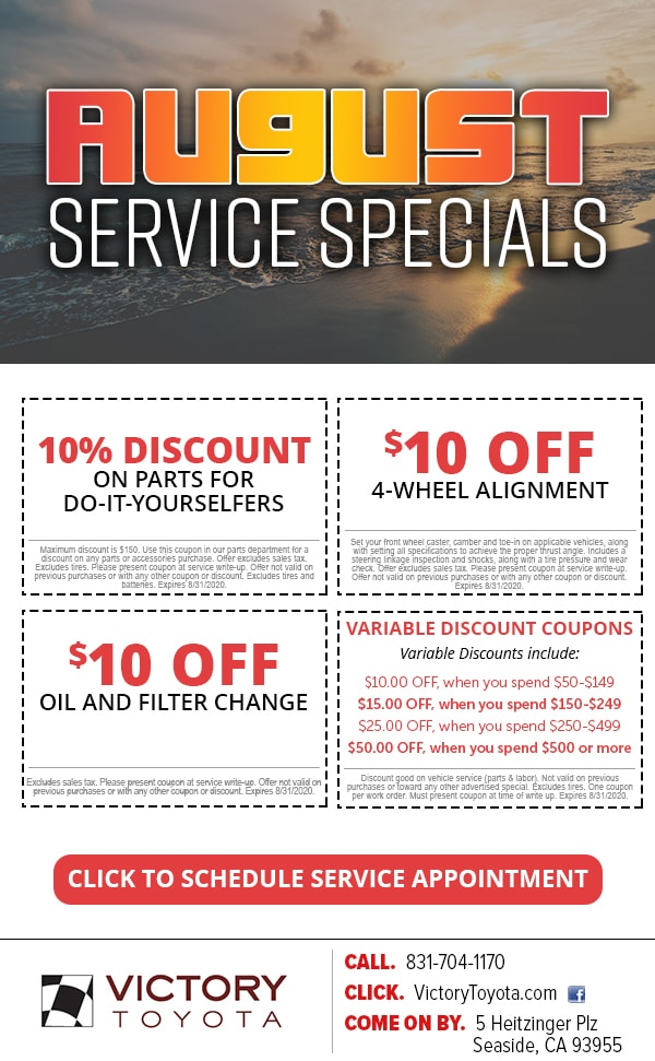 Service Specials near Seaside CA