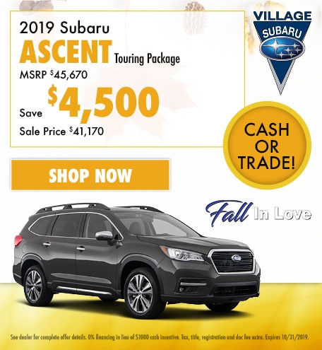 2019 Subaru Ascent Touring Package