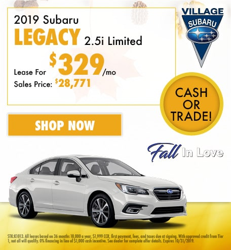 2019 Subaru Legacy 2.5i Limited Lease Offer