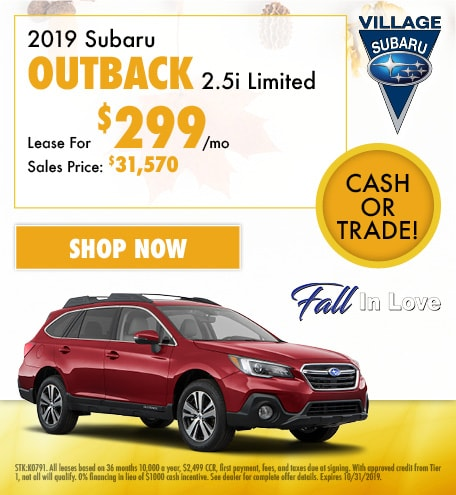 2019 Subaru Outback 2.5i Limited Lease Offer