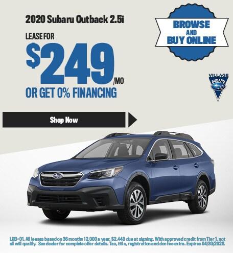 2020 Subaru Outback 2.5i April Offer