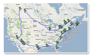 snowbird rv trail map thumbnail