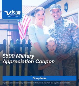 $500 Military Appreciation Coupon