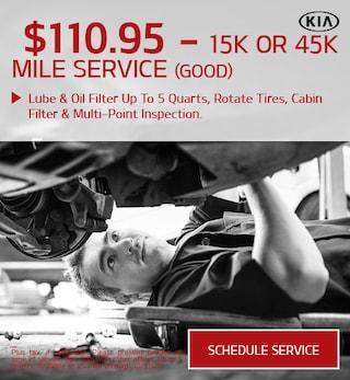 15k Or 45k Mile Service (Good)