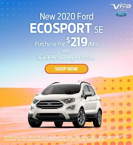 September | 2020 Ford EcoSport