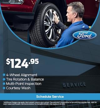 4 Wheel Alignment, Tire Rotation & Balance, Multi-Point Inspection, Etc.