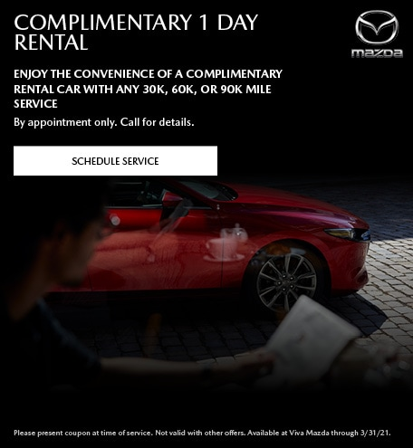 Complimentary 1 day Rental Car With Service