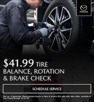 Tire Balance, Rotation & Brake Check