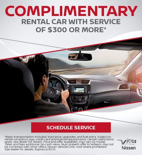 Complimentary Rental Car With Service Of $300 Or More