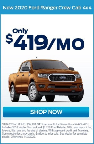 New 2020 Ford Ranger Crew Cab 4X4