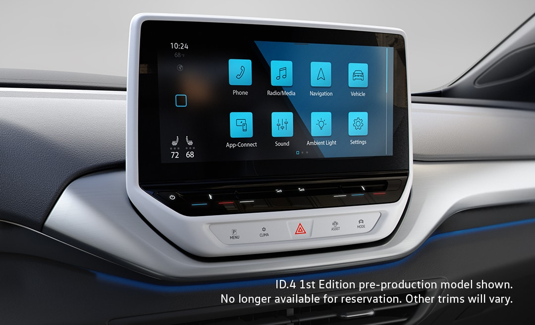 touchscreen inside the VW ID.4