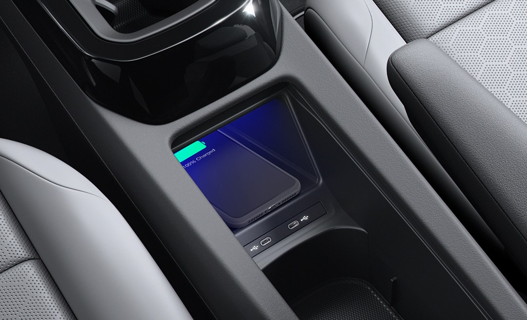 phone charging in VW's electric car