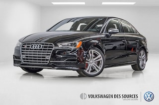 2016 Audi S3 2.0T Progressiv + NAVIGATION + CAMERA + CUIR Sedan