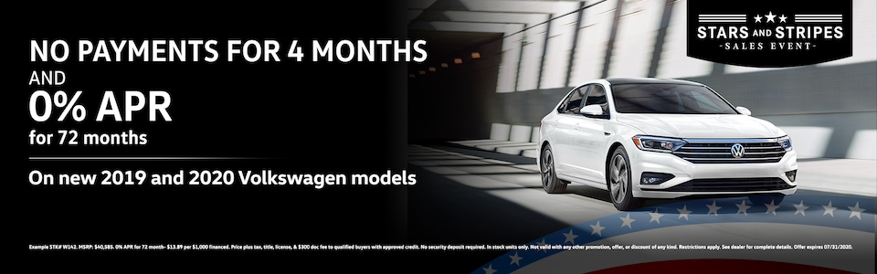 No Payments for 4 Months & 0% APR for 72 months