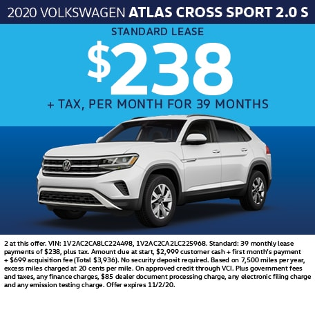2020 Volkswagen Atlas Cross Sport 2.0 S