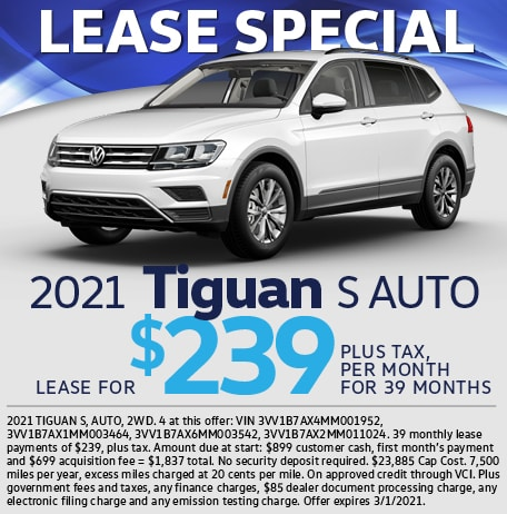 Lease Special 2021 Tiguan S