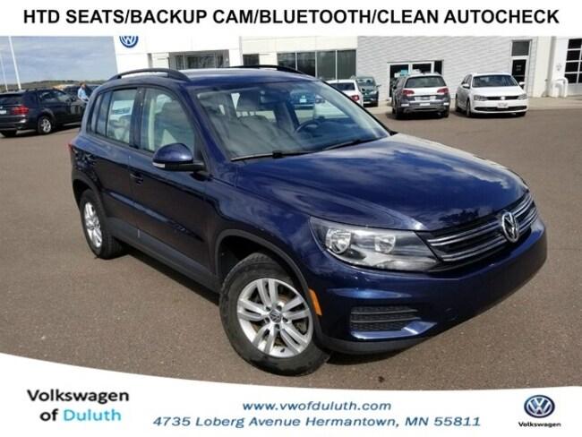 2016 Volkswagen Suv >> Used 2016 Volkswagen Tiguan For Sale At Volkswagen Of Duluth Vin