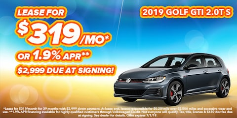 2019 Volkswagen Golf GTI Model Offer
