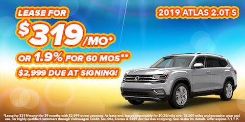 2019 Volkswagen Atlas Model Offer