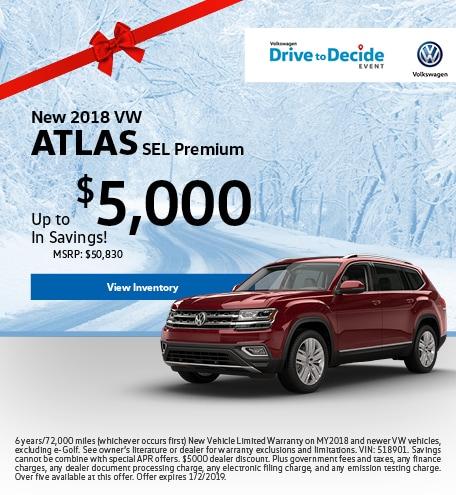 2018 VW Atlas SEL Premium