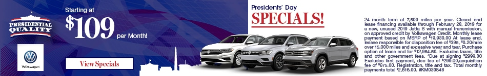 Presidents Day Specials