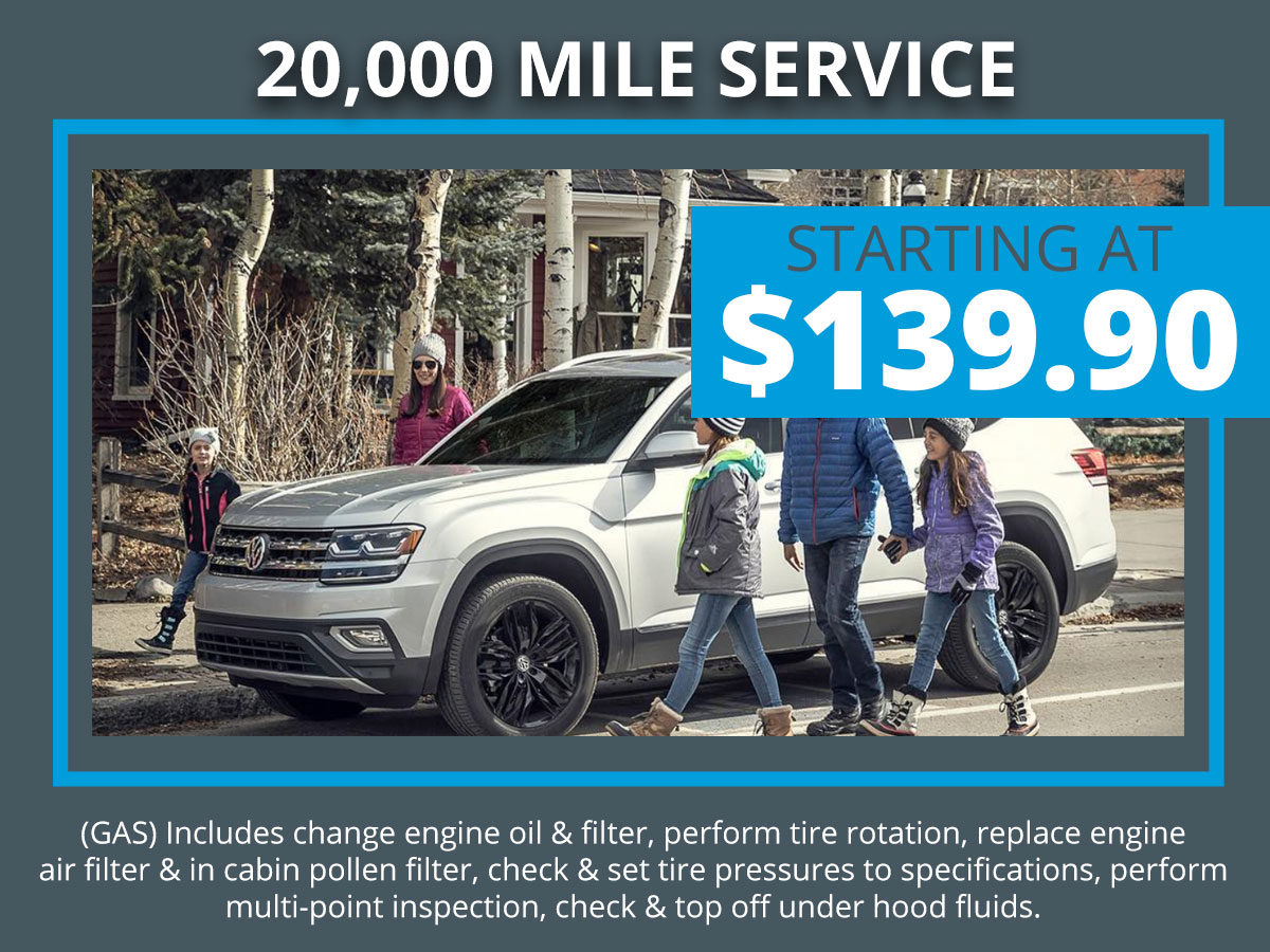 VW 20k Mile Service Coupon