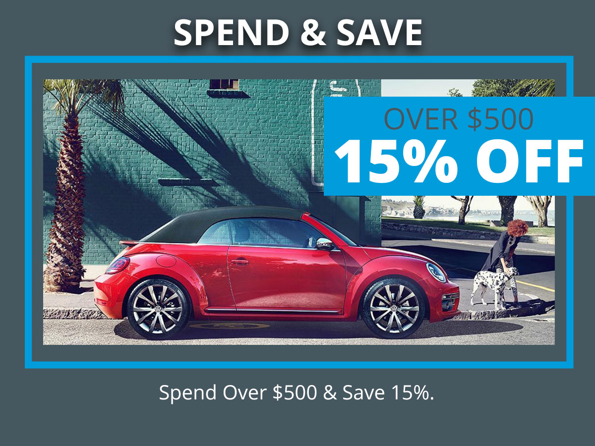 Spend Savings Volkswagen Service Coupon