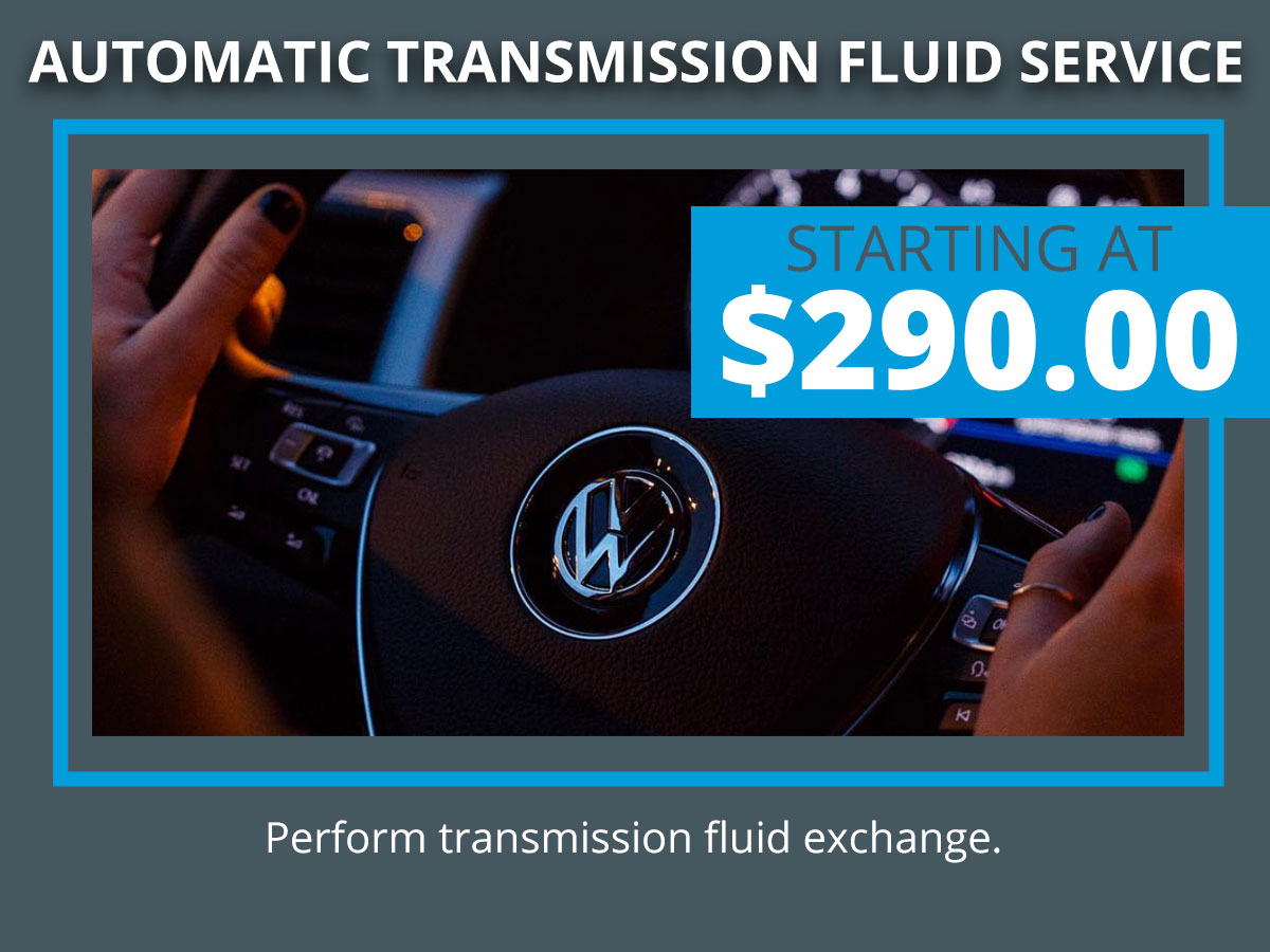 VW Automatic Transmission Fluid Exchange Coupon