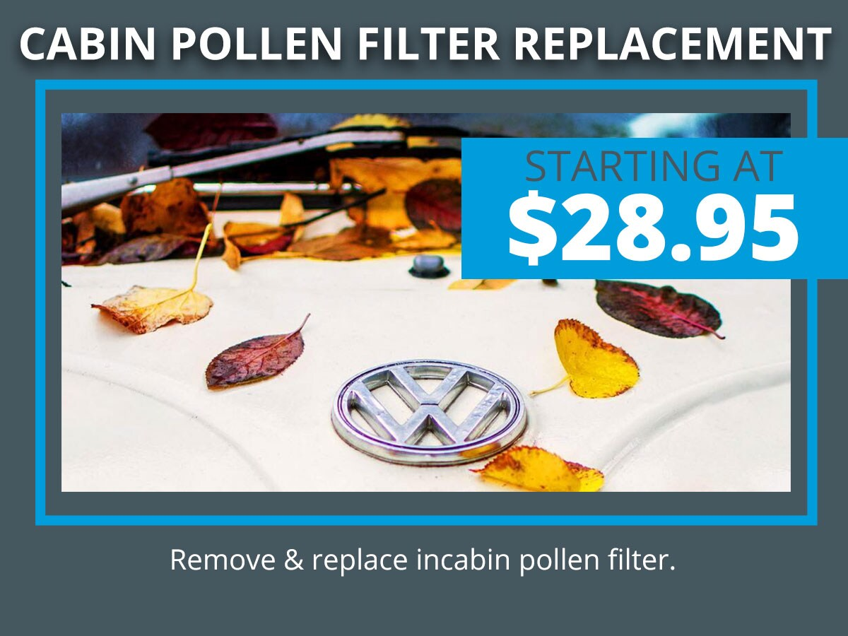 Volkswagen Cabin Air Filter Replacement Service Olympia, WA