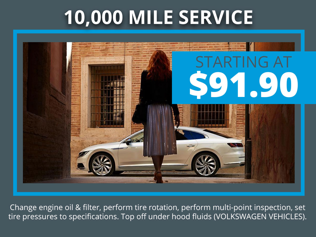 VW 10k Mile Service Coupon