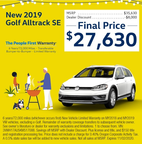 New 2019 Gold Alltrack SE