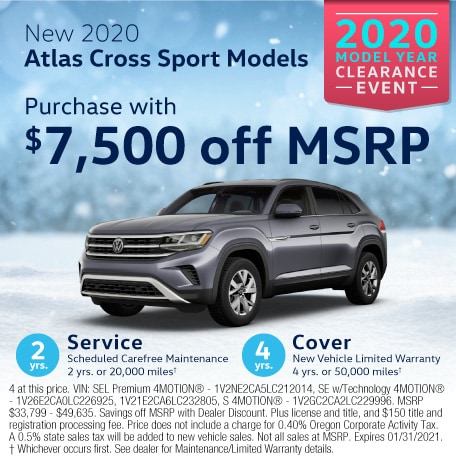 New 2020 Atlas Cross Sport 3.6L