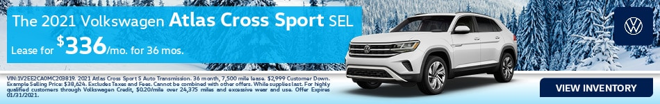 The 2021 Volkswagen Atlas Cross Sport SEL