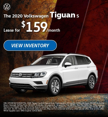 The 2020 Volkswagen Tiguan S