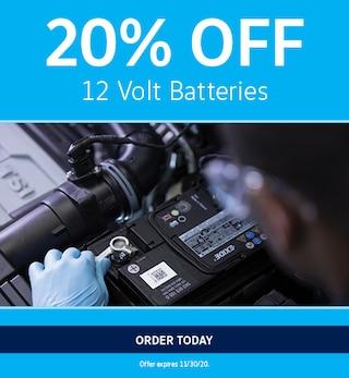 20% Off 12 Volt Batteries