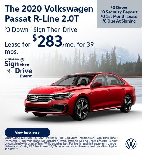 The 2020 Volkswagen Passat R-Line 2.0T