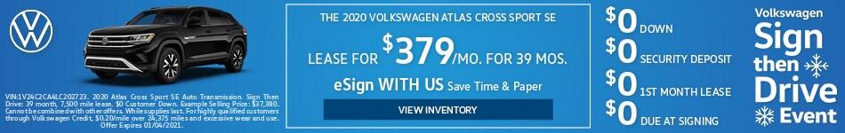 The 2020 Volkswagen Atlas Cross Sport SE
